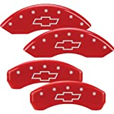 MGP Caliper Covers Chevrolet Tahoe 2007 2008 2009 2010 2011 2012 2013 (Licensed Logo, Chevy Bowtie) - Red