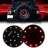 Firebug Jeep 3rd Brake Light LED, Jeep Spare Tire Brake Light, Jeep LED Brake Light, Jeep Accessories Lights for Spare Tire, Jeep Wrangler Spare Tire Brake Light JK JKU 2007 - 2017, Red