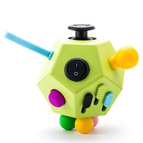 cd642115e5df4 Fidget Dodecagon,12 Sided Fidget Cube Toy Relieves Stress and Anxiety for  Kids and Adults with ADD,OCD,ADHD,Autism (Green/B1)