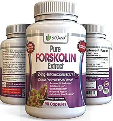 #1 Best Forskolin 100% Pure Extract 250mg *Maximum Strength Belly Buster* (90 Capsules) Premium Research Verified Coleus Forskohlii Weight Loss Supplement (Fully Standardized to 20% Superior to 125mg)