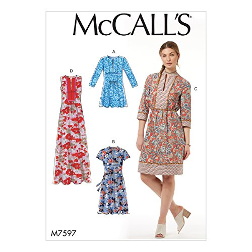 McCall Patterns M7597E50 Misses' Loose-Fitting Pullover Front Bib, Gathers and Back Yoke Tunic and ()