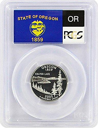 2005 Oregon State S Silver Proof Quarter PR-69 PCGS