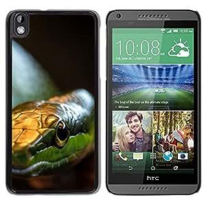 // PHONE CASE GIFT // Duro Estuche protector PC Cáscara Plástico Carcasa Funda Hard Protective Case for HTC DESIRE 816 / Serpiente Verde /