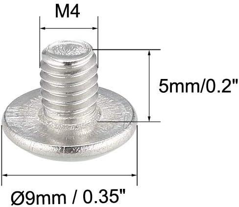 M4 x 5 mm Phillips Truss Head Tornillo Tornillos para m/áquina de mapa 50 piezas acero inoxidable 304 pernos de sujeci/ón