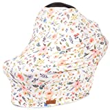 #4: 5-in-1 Car Seat Canopy & Nursing Cover by Matimati, Stretchy & Ultra Soft Breastfeeding, Carseat & Stroller, Shopping Cart Covers, Perfect Gift for Mom (Floral)
