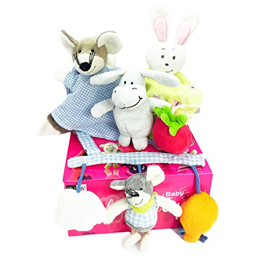 Baby Toys 0-1 Years Old Infant Rattles Plush Doll Toys (Pink) - 5