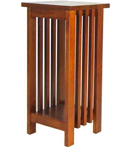 Mission Telephone Table - Charleston Flower Stand, Oak Finish