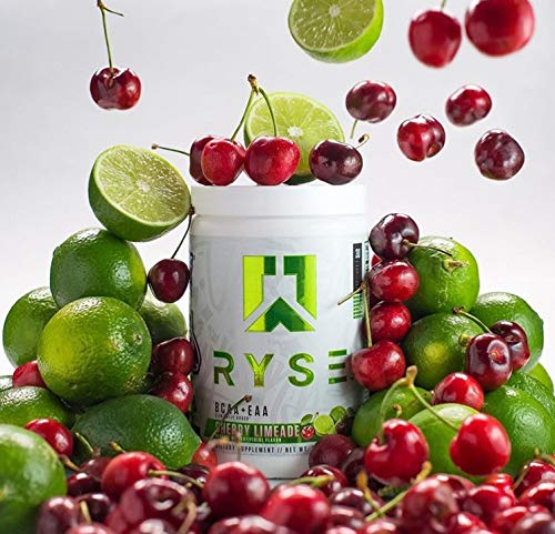 Ryse BCAA + EAA | Ryse Up Supplements | Fuel Your Greatness | Hydration, Recovery, Branch Chain and Essential Amino Acids, 30 Servings (Cherry Limeade)