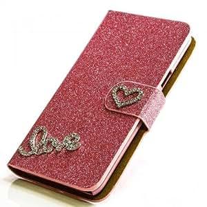 purpurina funda para Sony Xperia Ion (LT28i) Color Rosa Carcasa Funda Bag Bling Case nuevo
