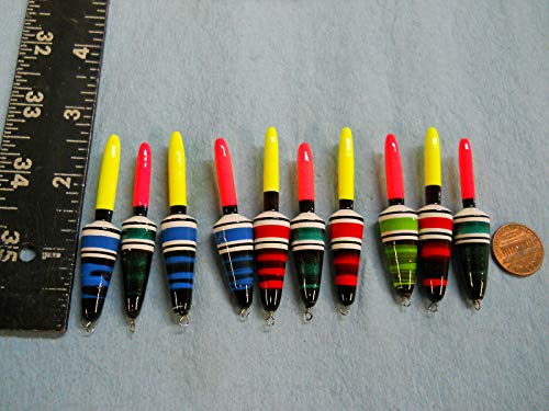 10 New Wood Slip Floats/Bobbers PANFISH ICE Fishing NO Freeze UP ON LINE B85 Terminal Tackle