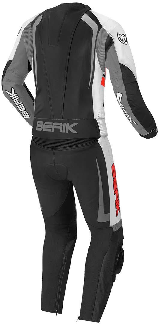Berik Race-X 2-Teiler Motorrad Lederkombi 50 Schwarz//Wei/ß