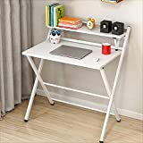 GFL Foldable Home Computer Desk L83.5cmW50cmH92.5cm White Black (multicolor Optional) Computer Tables (Color : B)
