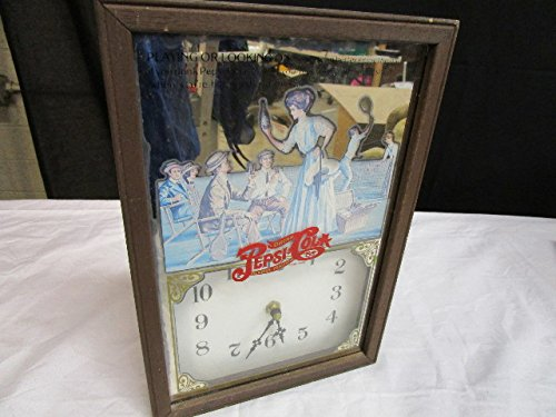 George Nathan Vintage Pepsi-Cola Wood Framed Tennis Wall Clock