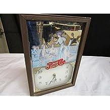 Vintage Pepsi-Cola Wood Framed George Nathan Tennis Wall Clock