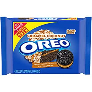 OREO Chocolate Sandwich Cookies, Caramel Coconut Flavored Creme, 1 Family Size Pack (17 oz.)