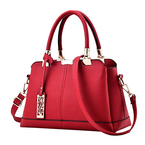 Casual À Rouge Fille Handbag Femme Main Women Kangrunmys Bag Sac Pas D'épaule Cabas Bandoulière Mode Cher Chic Pu Cuir 5UqWX6cWw