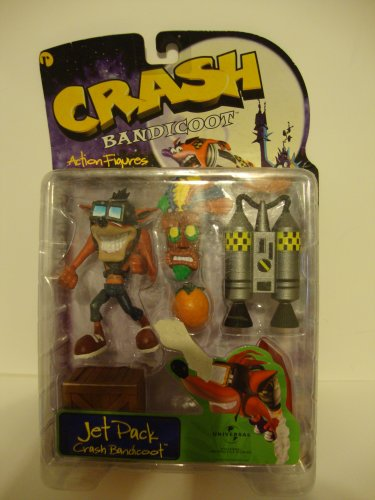 Universal Interactive Crash Bandicoot Jet Pack Action Figure