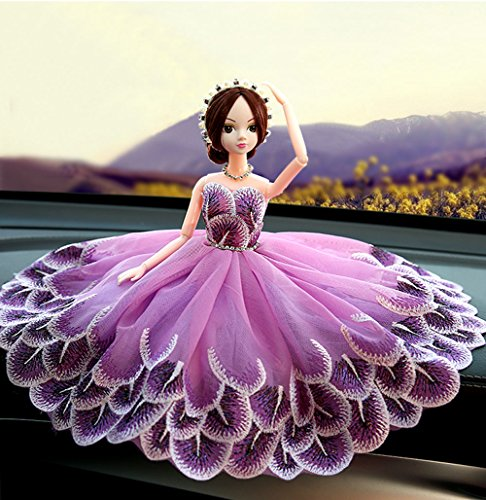 - Homanda Purple Barbie Cake Topper Decoration for Birthday Party Wedding