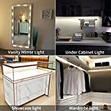 Super Bright Image LED Light Kit for Vanity Mirrors/Show Cases/Cabinet Lights with Dimmer Controller/cuttable Design (75 LED Bulb/12.5ft) UL Safety Standard White