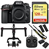 Nikon D7500 20.9MP DX-Format 4K Ultra HD Digital SLR Camera with DJI Ronin-M Brushless Gimbal Stabilizer plus 128GB Sandisk SDXC Memory Card Bundle