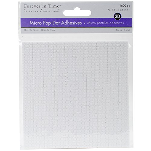 Multicraft 3D Pop Dots Dual-Adhesive Micro Foam Adhesives-White Round.12 (3d Dots White Adhesive Foam)