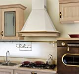 Range Hood Wall Mounted Wood 24'' CHR-117 NT AIR. Made in Italy.