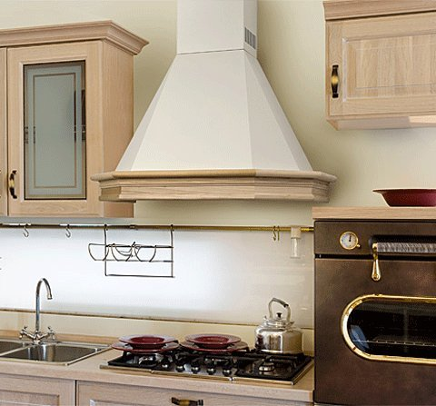 Range Hood Wall Mounted Wood 36'' CHR-115 NT AIR. Made in Italy. by NT Air