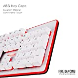 1STPLAYER Fire Dancing Mechanical Feeling Gaming Keyboard GK3 White