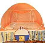 Healthy Sleeping Foldable Polyester Double Bed Mosquito Net (Orange)