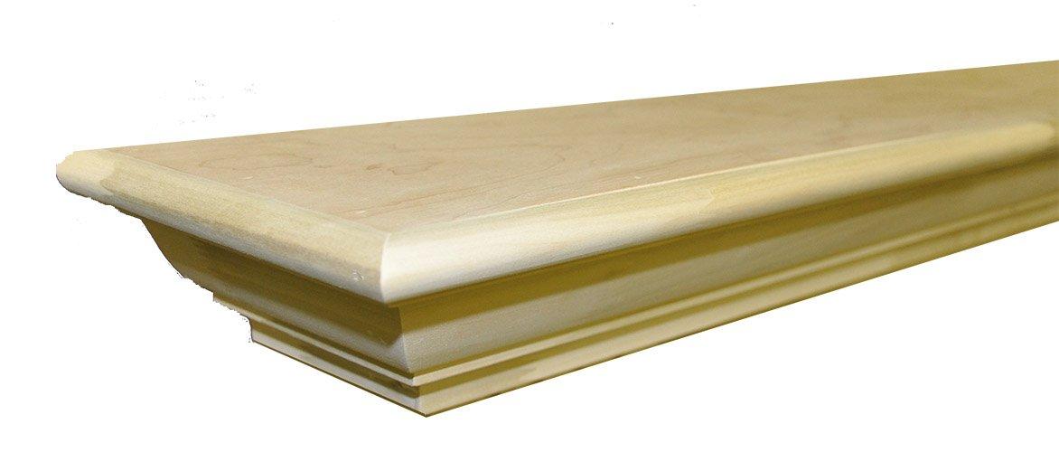 Frederick Mantel Shelf Paint Grade Unfinished Poplar 72''W x 7-3/4''D x 3-3/4''H