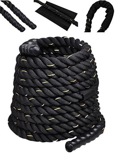 Comie Poly Dacron 30ft 40ft 50ft Length Battle Rope Exercise Workout Strength Training Undulation