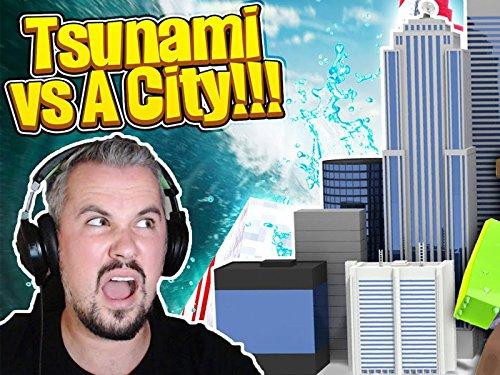 Clip  Tsunami Vs  Minecraft City Challenge With Tiny Turtle