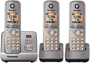 Panasonic KX-TG6723 - Teléfono inalámbrico (con contestador automático, función manos libres, baja radiación): Amazon.es: Electrónica
