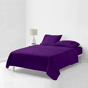 Basics Decor Luxurious   1000 Thread Count   4 Piece Sheet Set   100% Egyptian Cotton  California Queen 60
