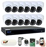 Cheap GW Security 16 Channel DVR 4TB HDD CCTV 5MP Video & Audio Surveillance Security Camera System – 12 x 5MP HDTVI Weatherproof Microphone Dome Cameras