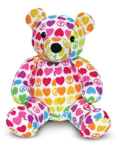 Melissa & Doug Hope Bear - Patterned Pal Teddy Bear Stuffed Animal