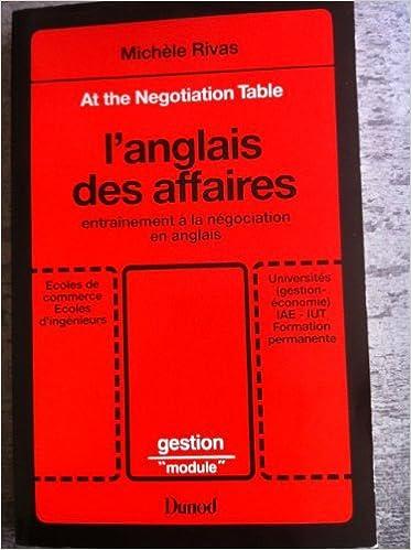At The Negotiation Table L Anglais Des Affaires Entrainement A