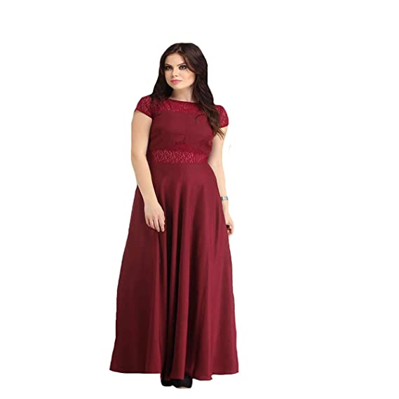 93e022680953 Night Gown Comfortable Sleep Wear Sexy Long Hot Maroon Nighties  Amazon.in   Clothing   Accessories