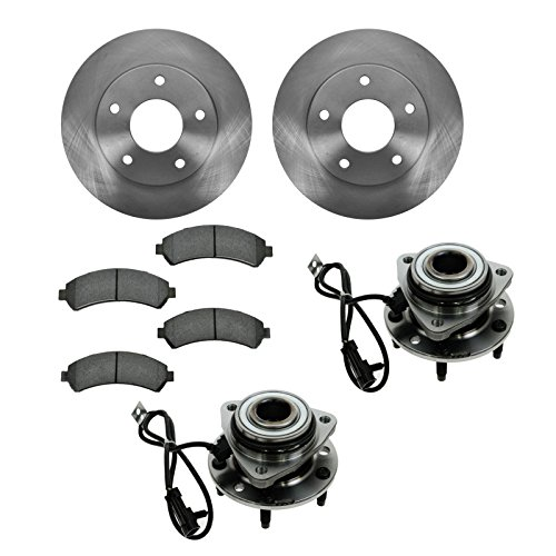 Wheel Hub Ceramic Brake Pad Rotor Front Kit for Chevy GMC Isuzu Olds 4WD
