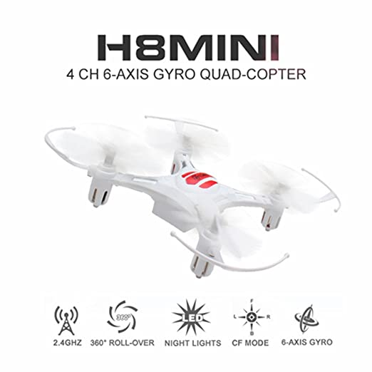 Eachine H8 Mini Quadcopter Drone Headless Mode Remote Control Nano Quadcopter RTF Mode 2 (White)