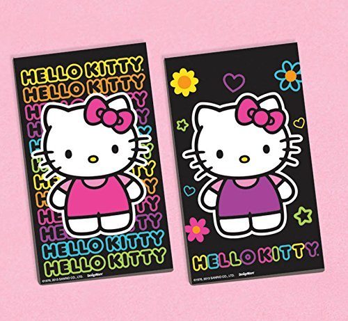 amscan Hello Kitty 'Neon Tween' Black Paper Sketch Pads / Favors (12ct) -