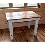 Handmade Reclaimed Wood Farmhouse Table - Computer Desk, Dining and Work Table