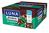 LUNA PROTEIN - Gluten Free Protein Bar - Chocolate Mint - (1.59 Ounce Snack Bar, 12 Count)