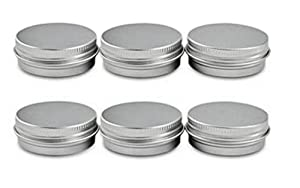 6PCS 120 ML 4oz Round Aluminum Jars Tins Cosmetic Sample Containers With Screw Top For Beard Balm Salve Lip Balm Crafts Make Up Candles Storage Bottle