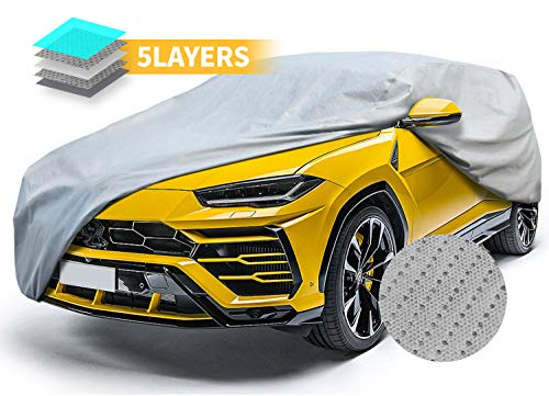 SUV Car Covers Breathable Vehicle Cover All Weather Outdoor Auto Cover UV Resistant Windproof Storm Protection Water Resistant Car Covers 240