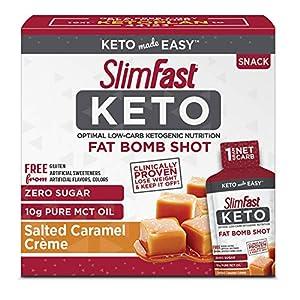 SlimFast Keto Fat Bomb Shot, Salted Caramel Crème, 10 Fl Oz, 10 Count