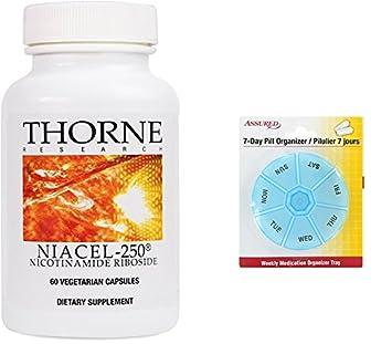 Thorne Research - NiaCel-250 - nicotinamida Riboside suplemento con ChromaDex Niagen - 60 cápsulas