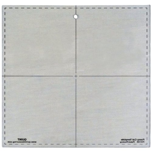 Quint Measuring Systems FCC125 Fussy Cut Series Cutting Squares, 12.5-Inch x 12.5-Inch (Measuring Quint Systems)