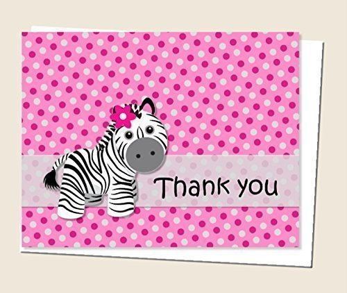 zebra baby shower invitations - 8
