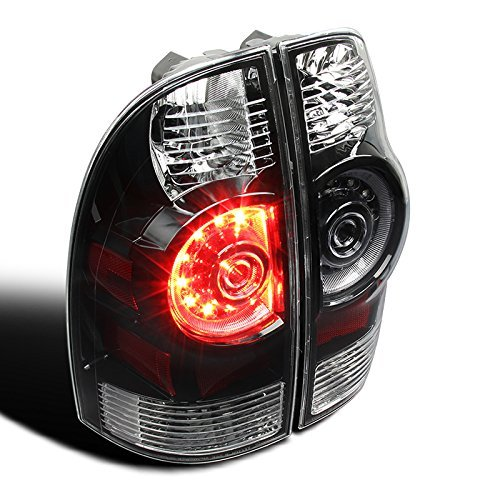 6KLED Tacoma 2005-2015 LED Tail Light Replacement - Black Clear (Set)